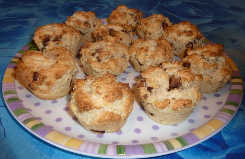 Muffins cocco e cioccolato senza glutine