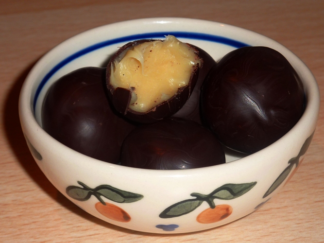 Cioccolatini ripieni al mou senza glutine