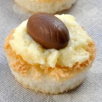 Cestini al cocco, crema e cioccolato