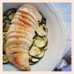 Insalata di pollo alle zucchine