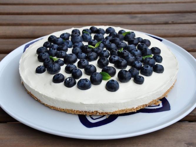 Cheesecake ai mirtilli senza glutine
