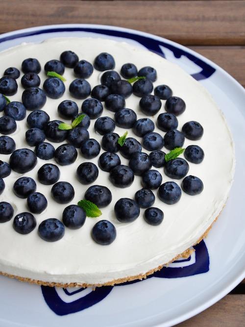 Cheesecake Senza Cottura Ai Mirtilli Una Cucina Tutta Per S 233