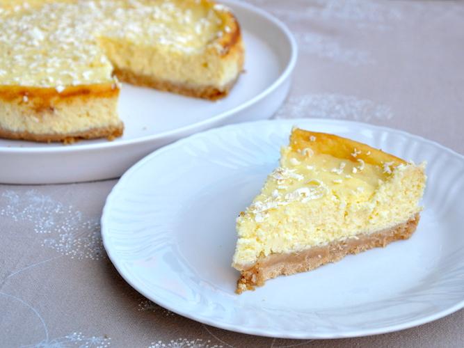 Cheesecake al cioccolato bianco e ricotta senza glutine