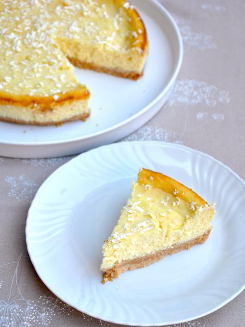 Cheesecake al cioccolato bianco senza glutine