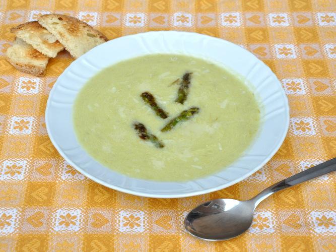 Crema di asparagi senza glutine