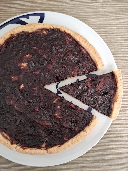 Crostata senza glutine ai lamponi e cioccolato bianco