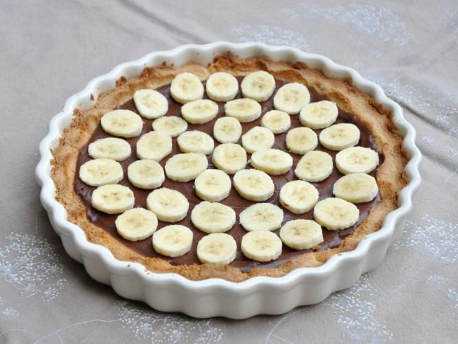 Crostata alla nutella e banane