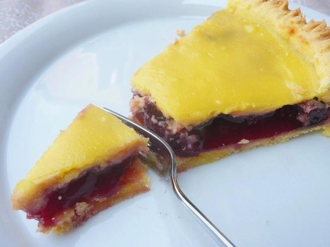 Crostata ciliegie e ricotta senza glutine