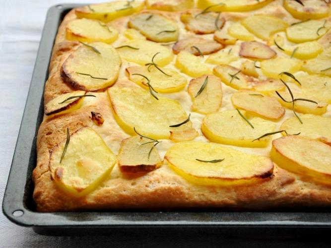 Pizza alta alle patate senza glutine