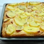 Pizza alta senza glutine alle patate e rosmarino