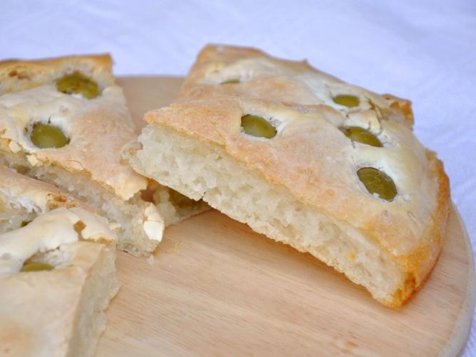 Focaccia senza glutine alle olive