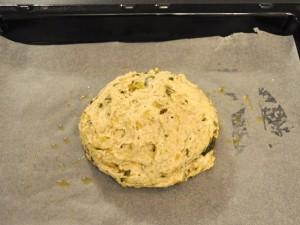 focaccia-senza-glutine-zucchine-speck-preparazione