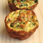 Muffins salati uova e spinaci