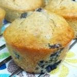 Muffins integrali alla banana e mirtilli