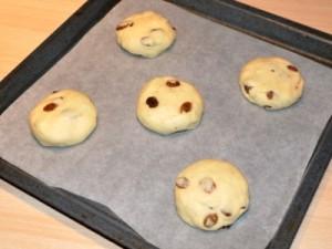 Impasto panini all'uvetta senza glutine