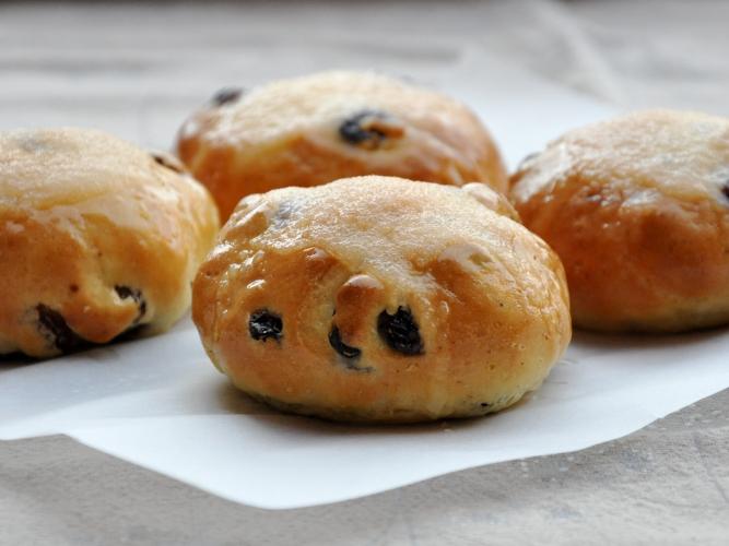 Pane senza glutine con uvetta