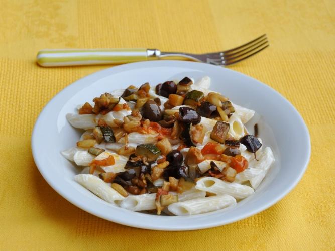 Pasta con ricotta e vedure senza glutine