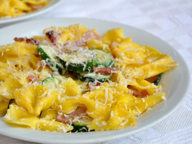 Pasta zucchine e speck senza glutine