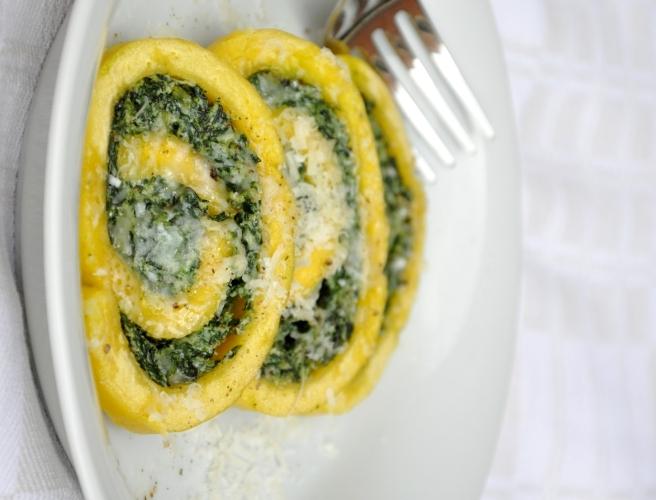 Rotolo di spinaci senza glutine