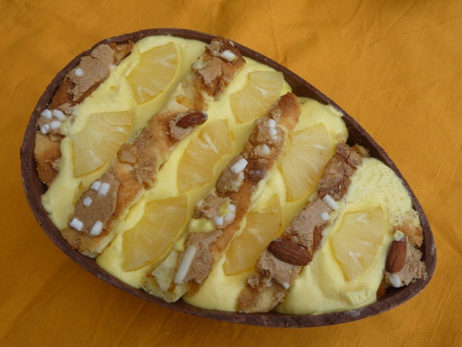 Tiramisù all'ananas senza glutine