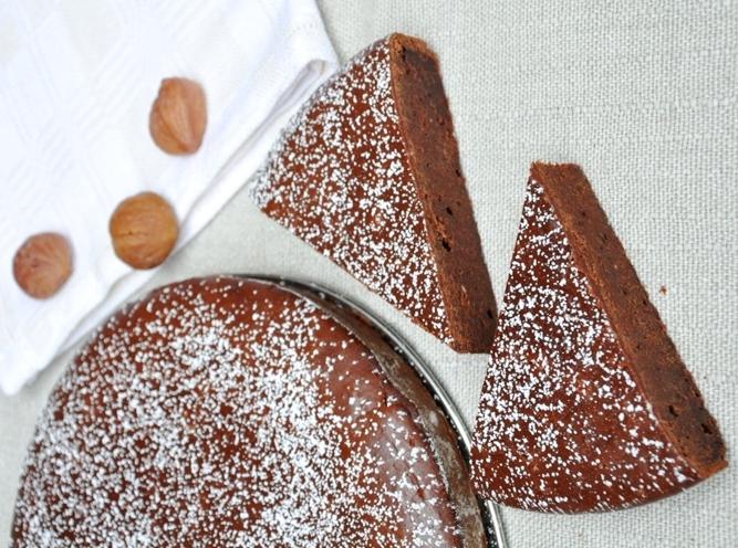 Torta di castagne e cioccolato senza glutine