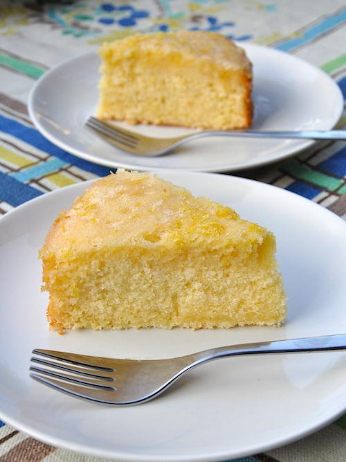 Lemon drizzle cake senza glutine