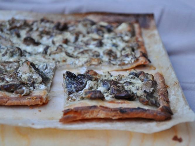 Torta salata senza glutine ai funghi