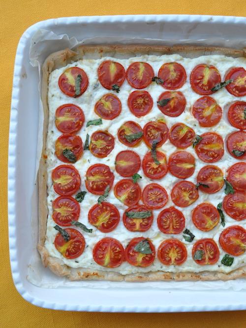 Torta salata alla ricotta e pomodorini senza glutine