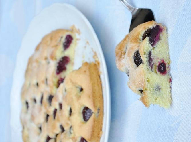 Torta senza lievito alle ciliegie senza glutine