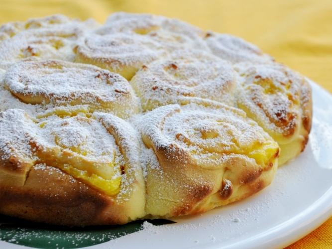 Torta di rose senza glutine al limone