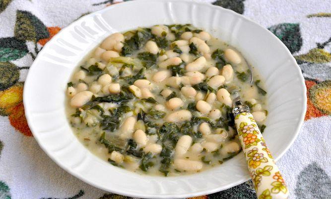 Zuppa facilissima con bieta e fagioli cannellini